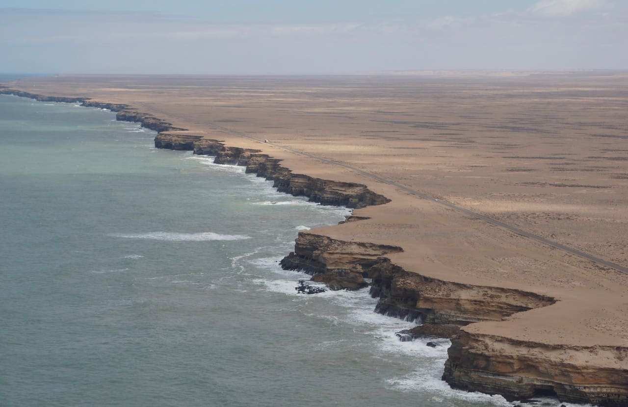 Low level coastal view