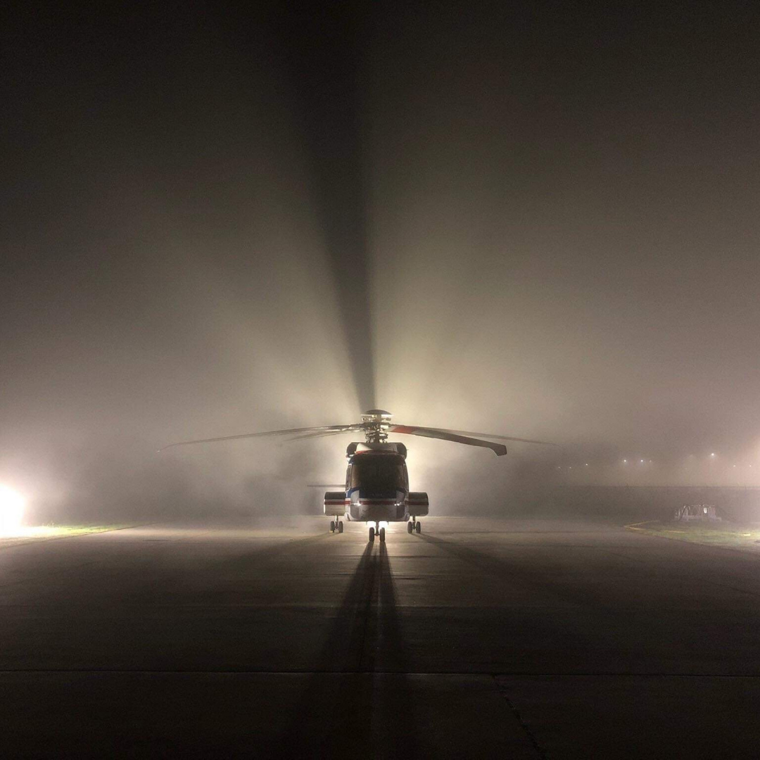 Sikorsky S92 before an early morning flight