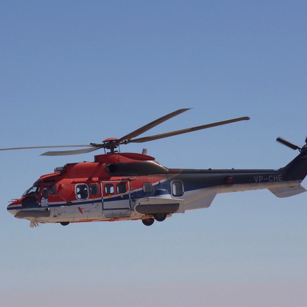 Superpuma Helicopter in Flight