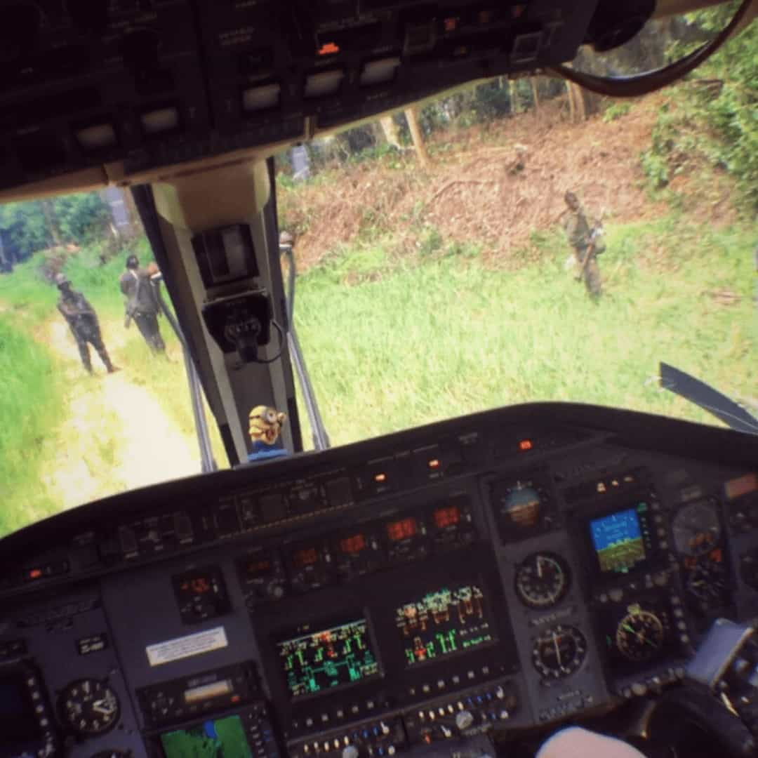 Landing the Bell 430 in the African bush