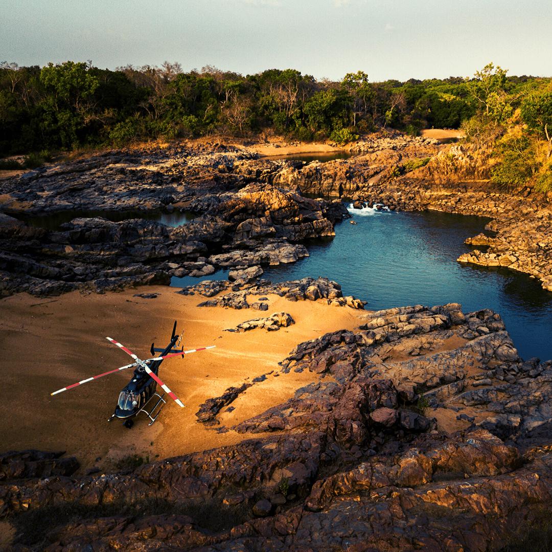 Anti poaching Landing Zone in Africa