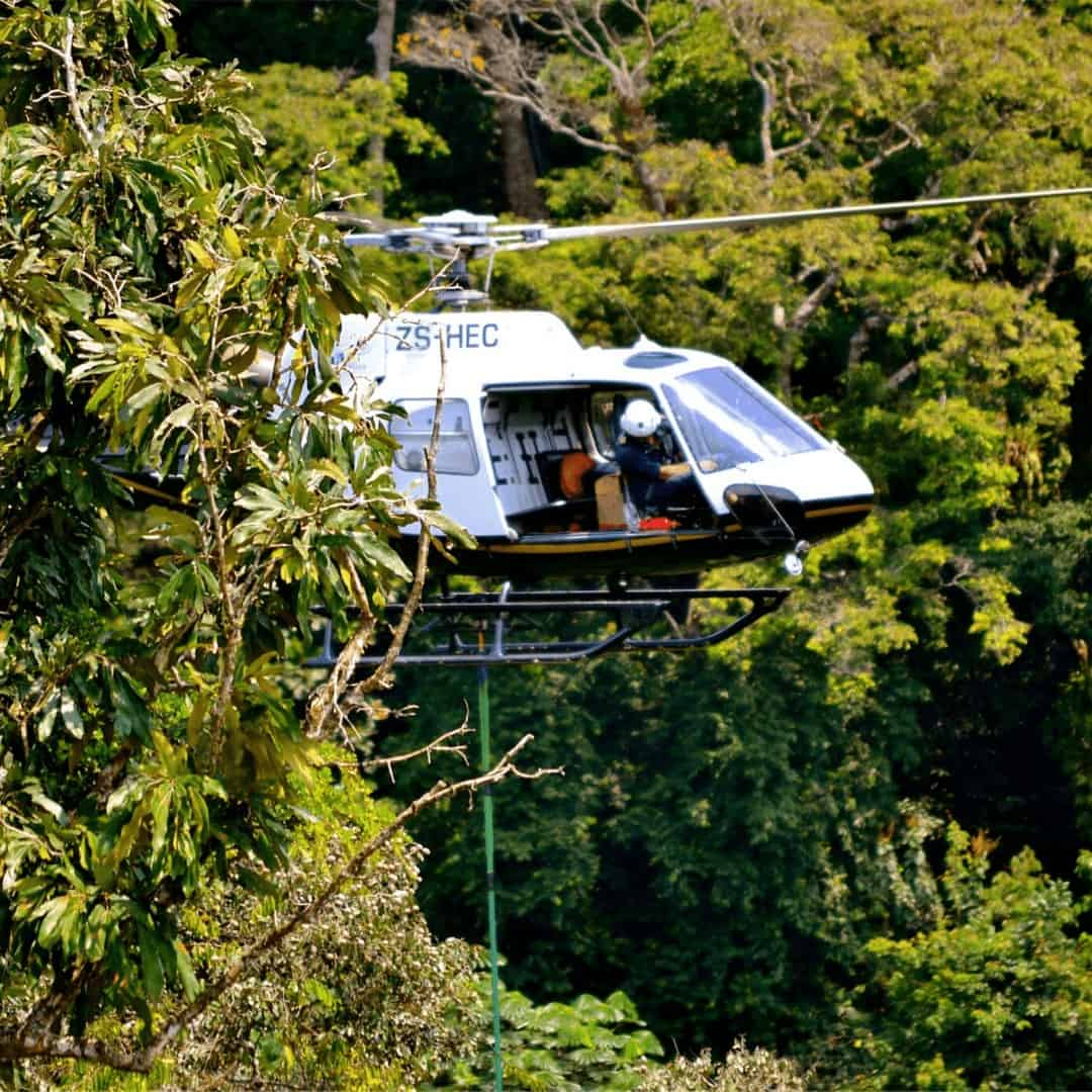 From The Rotor Break, A Day In The Life...Vertical Reference In Africa! Astar Helicopter in the Jungle