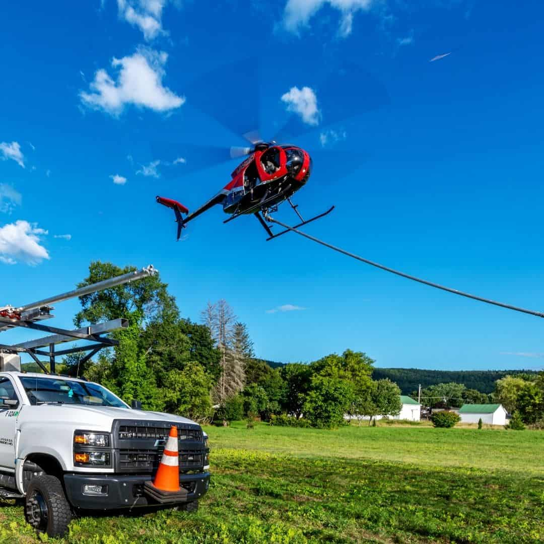 Lifting from the LZ with a 130' longline and Aerial Saw attached