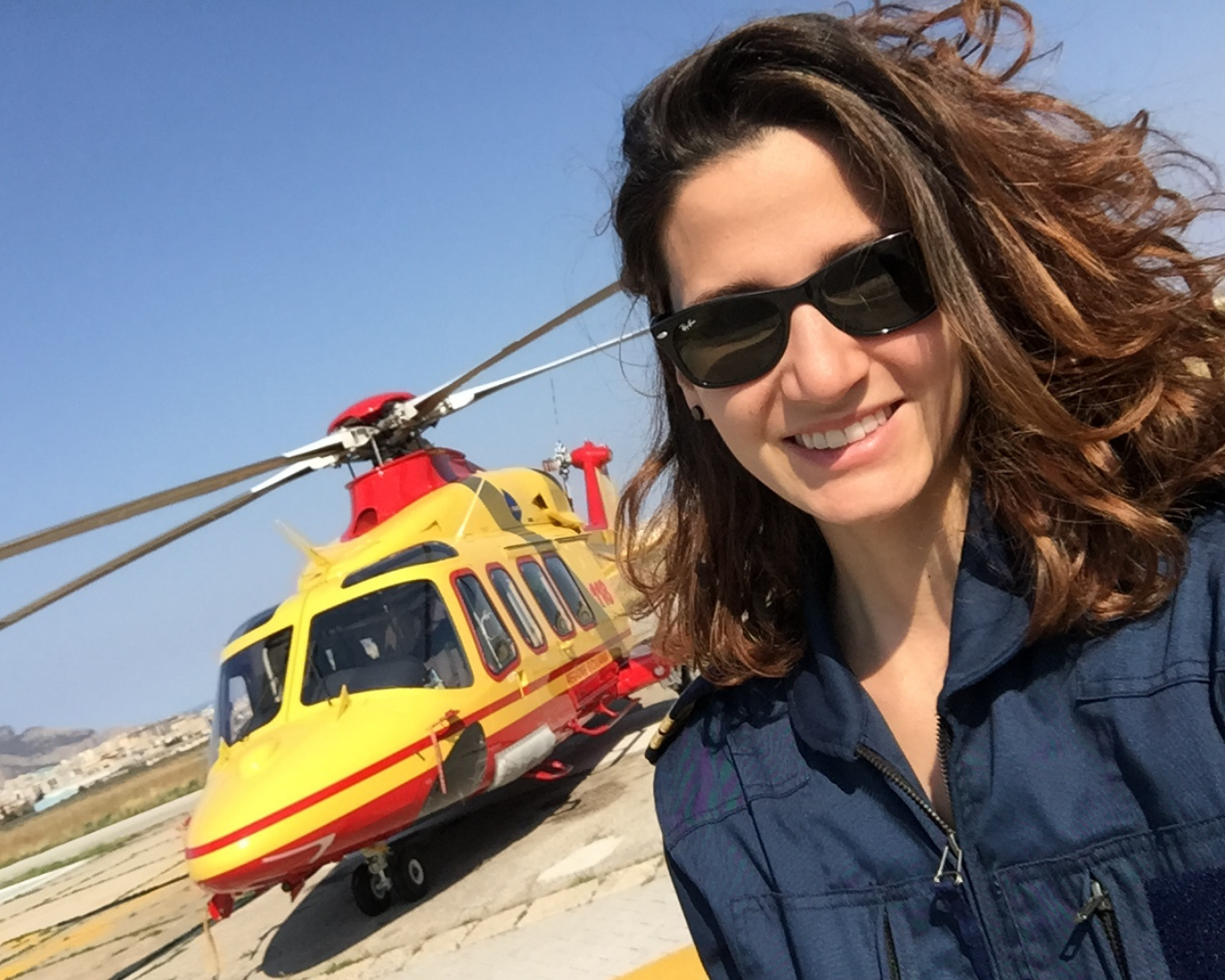 Helicopter Pilot Anna Parlagreco